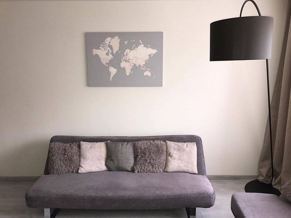 canvas map of the world living room