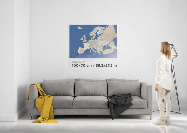 europe map wall art tripmap