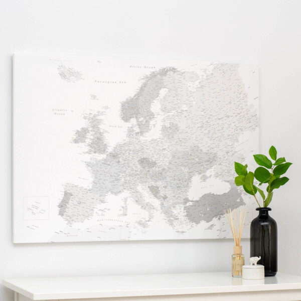 map of the europe grey trip map