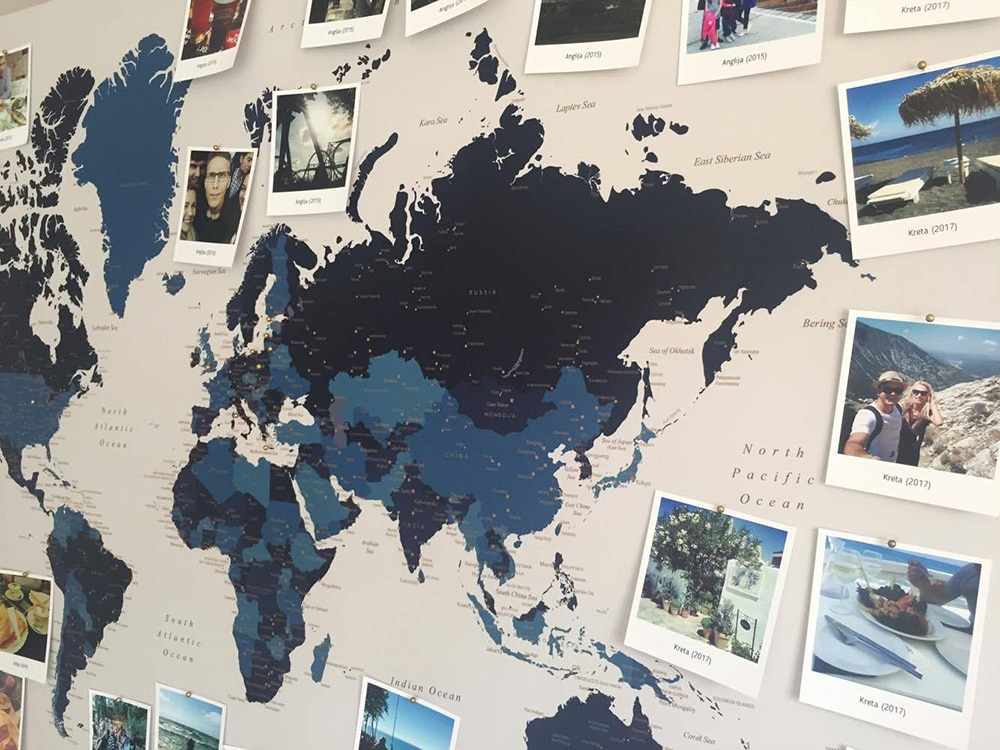 push pin travel map with photos