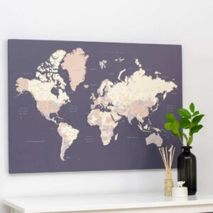 violet tripmap canvas world map
