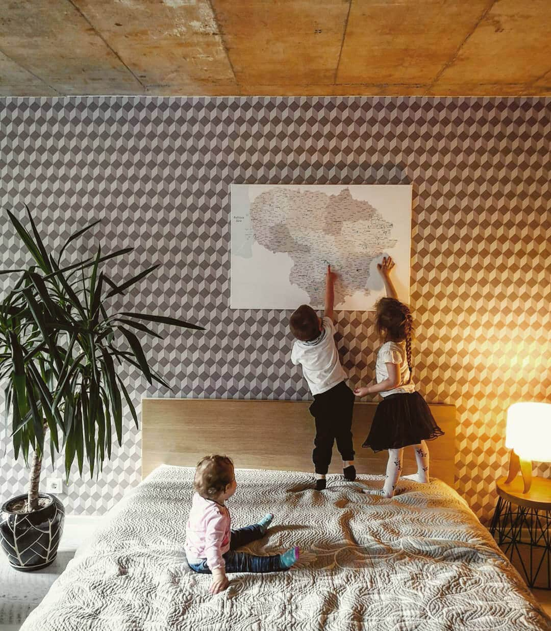 canvas world map for kids with pins