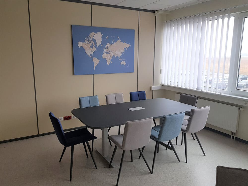 world map office space
