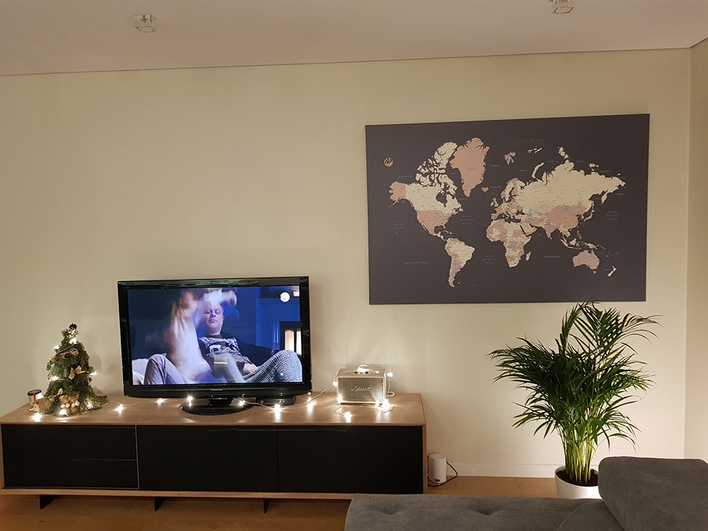 world map wall art living room