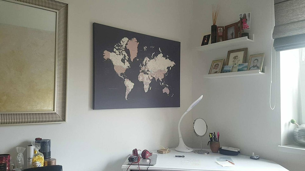 world map work room