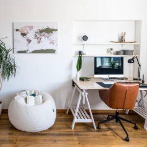 office room decor world map ideas