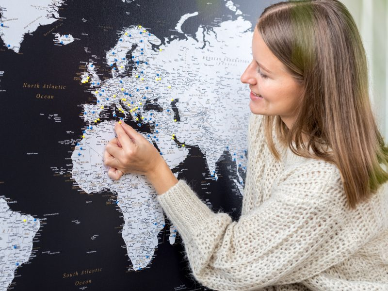 world map canvas wall art made in europe