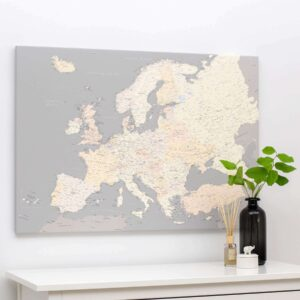 map of the europe grey tripmap