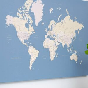 pinboard world map light blue