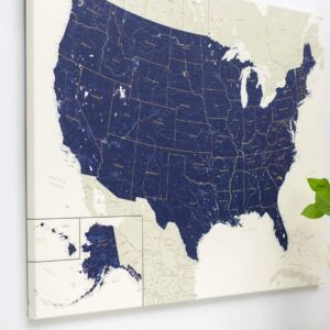 usa canvas map wall art