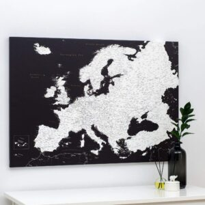 europe map pin board to mark adventures