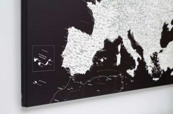map of europe canvas print black and white