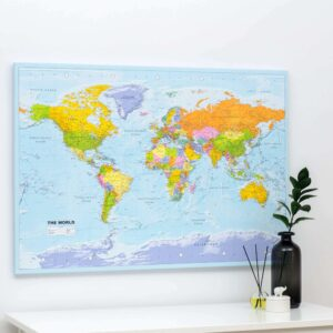 world map wall art political