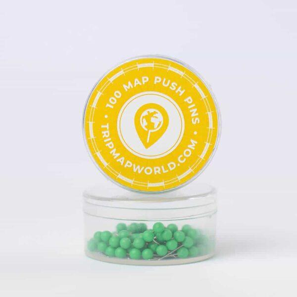 light green pins for map pinning