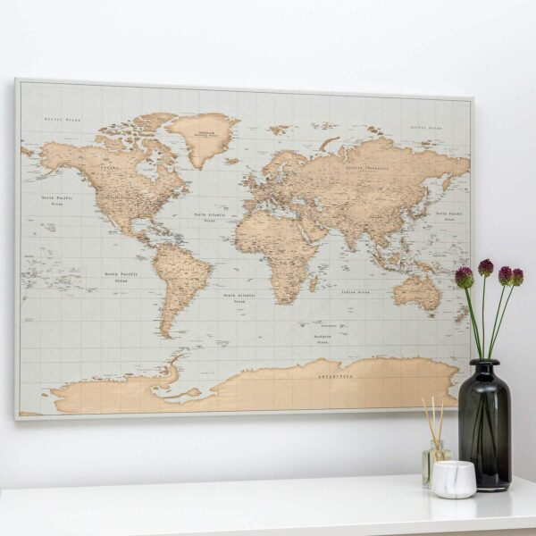 pinboard vintage map with pins