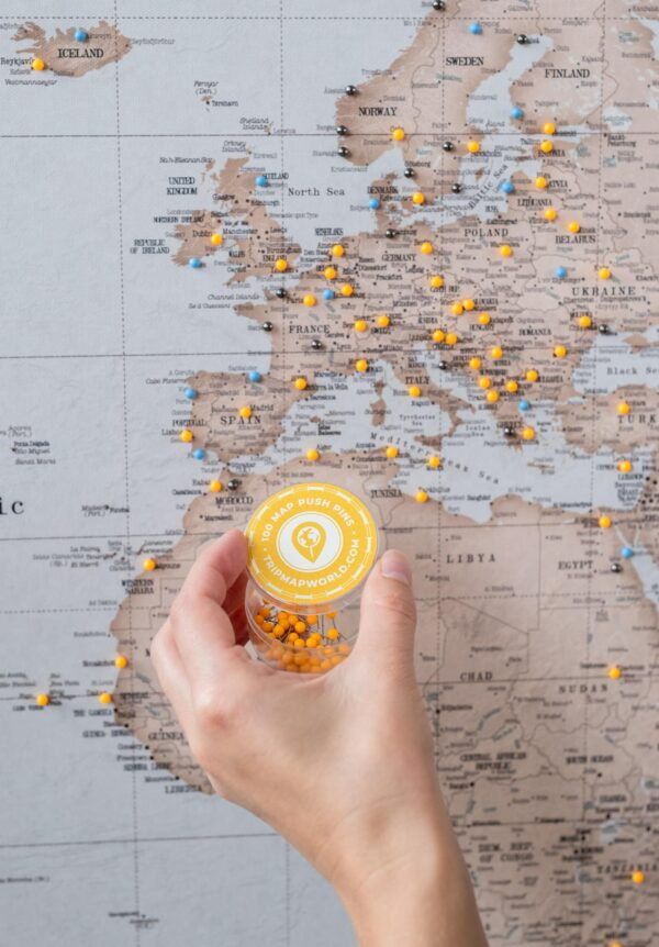 orange pins for map