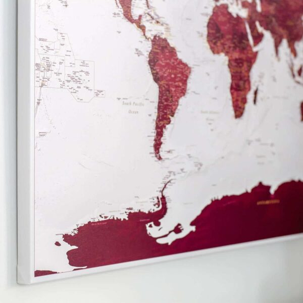 map of the world burgundy