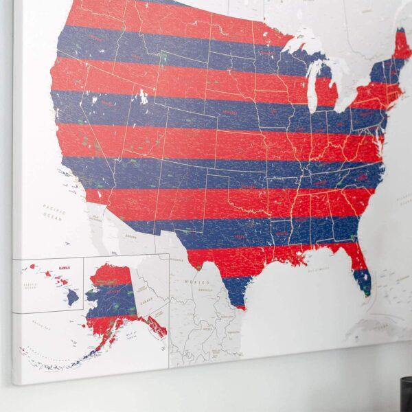 map of usa wall art decor