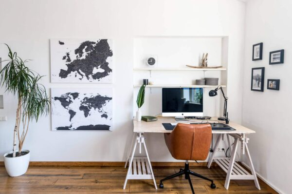white and black world and europe map canvas livingroom decor