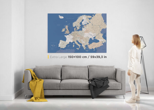 Extra large europe map