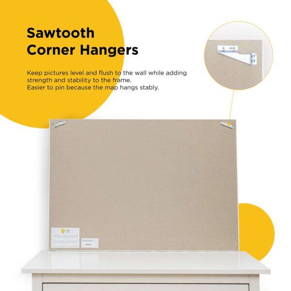Map corner hangers