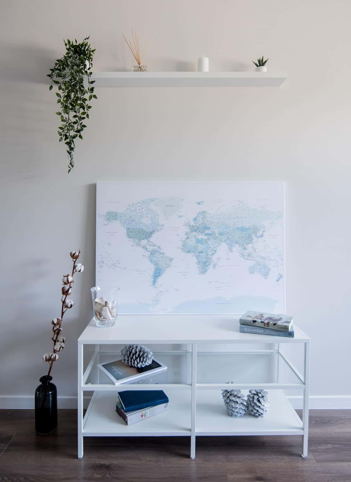 trip map world push pin map sky blue wall