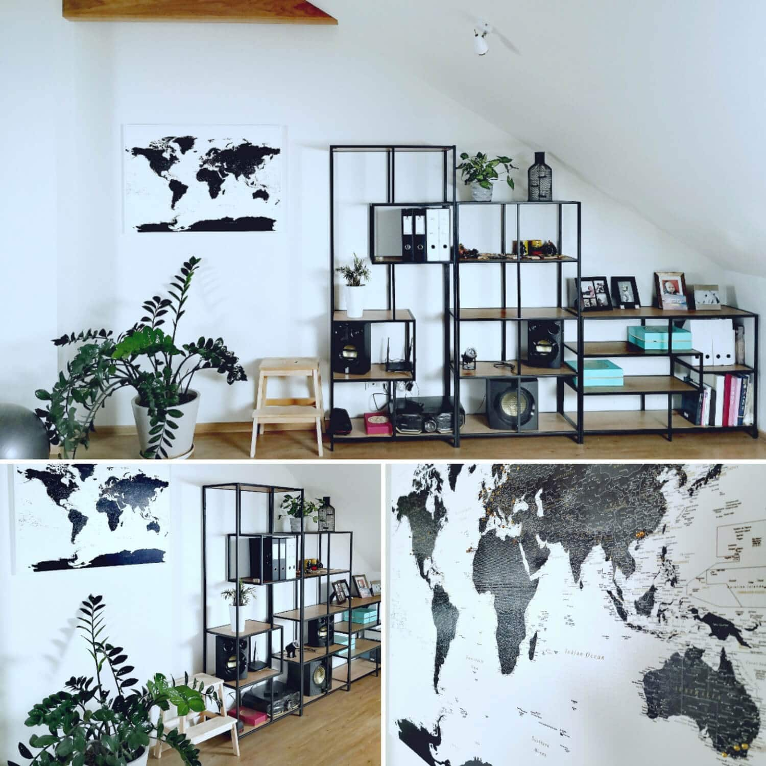 world map black and white canvas pinboard