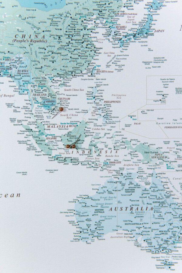 world map for kids sky blue color