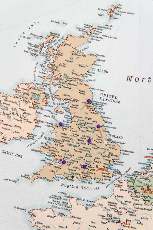 europe map with pins retro tripmapworld