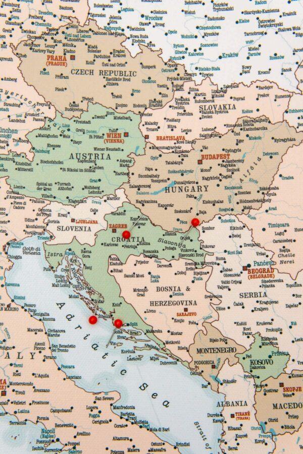 large europe pin map detailed