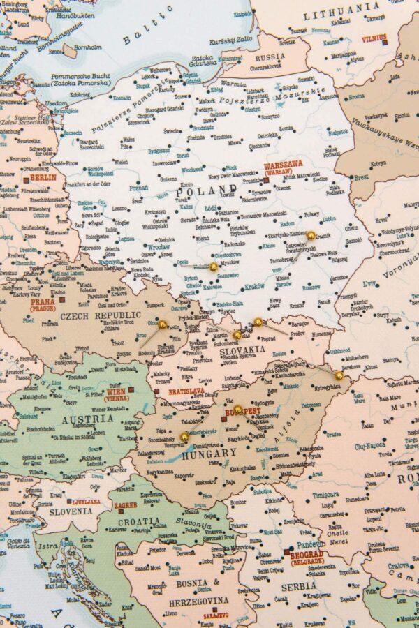 tripmapworld maps with pin europe retro