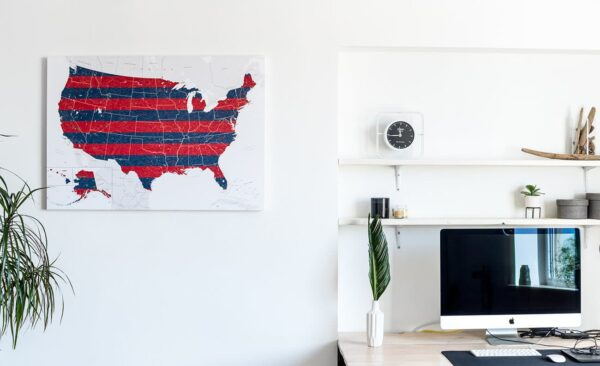 large detailed map of the USA