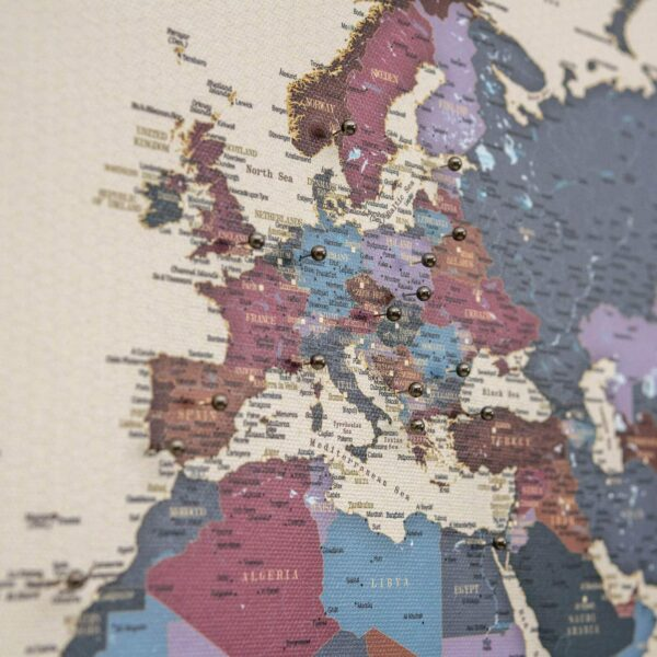 pinnable world map on canvas grapes