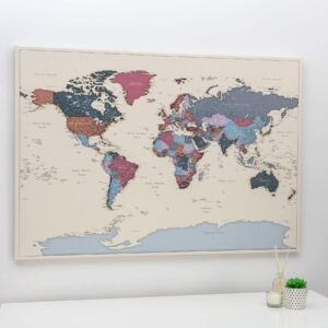 trip map world map grapes color
