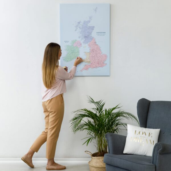 uk ireland canvas map