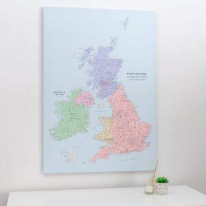 push pin uk and ireland map political