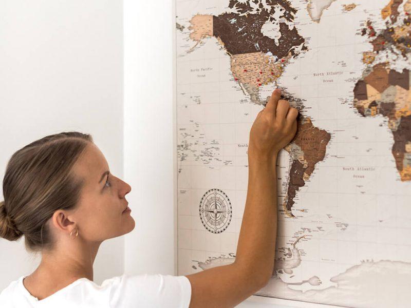 safari pinnable map of the world
