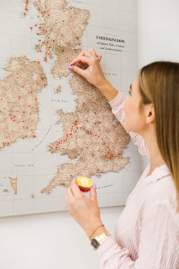 uk pinnable vintage large map