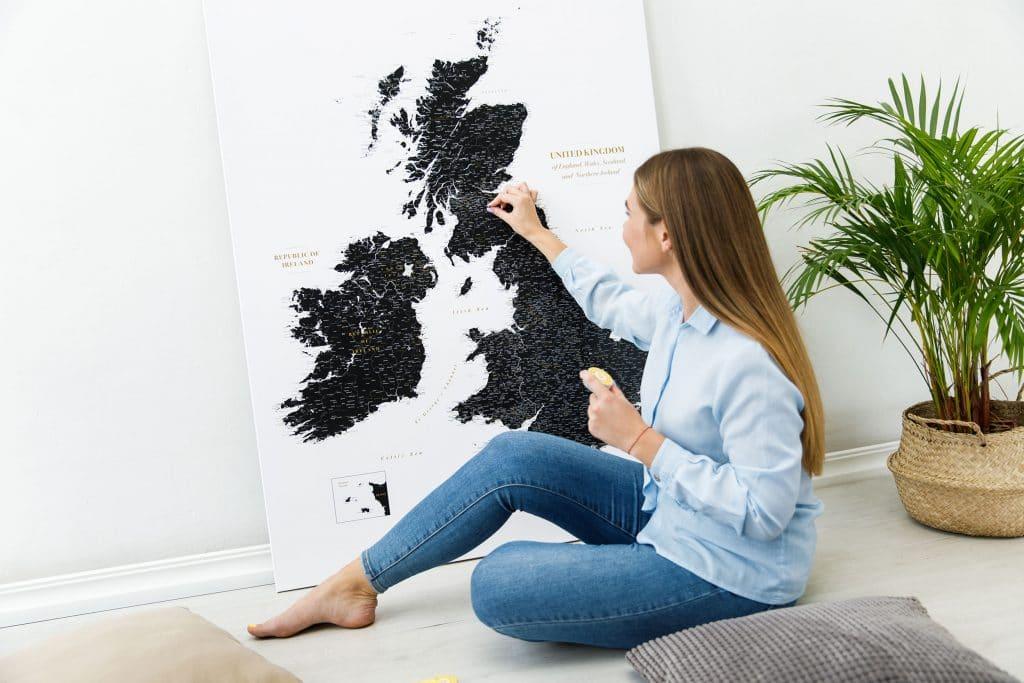 uk ireland large map