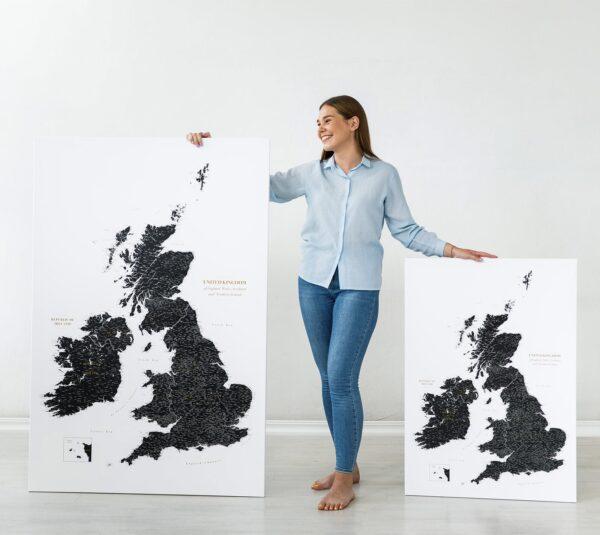 uk and ireland map sizes