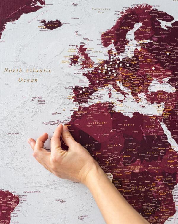 detailed-world-map-wall-art-burgundy