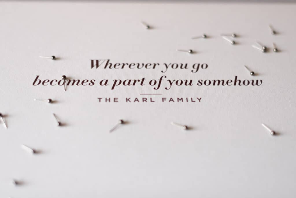 inspiring qoute personalized map