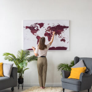 large-detailed-world-map-wall-art-with-pins-burgundy