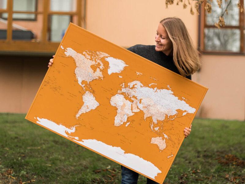 large push pin mustard map