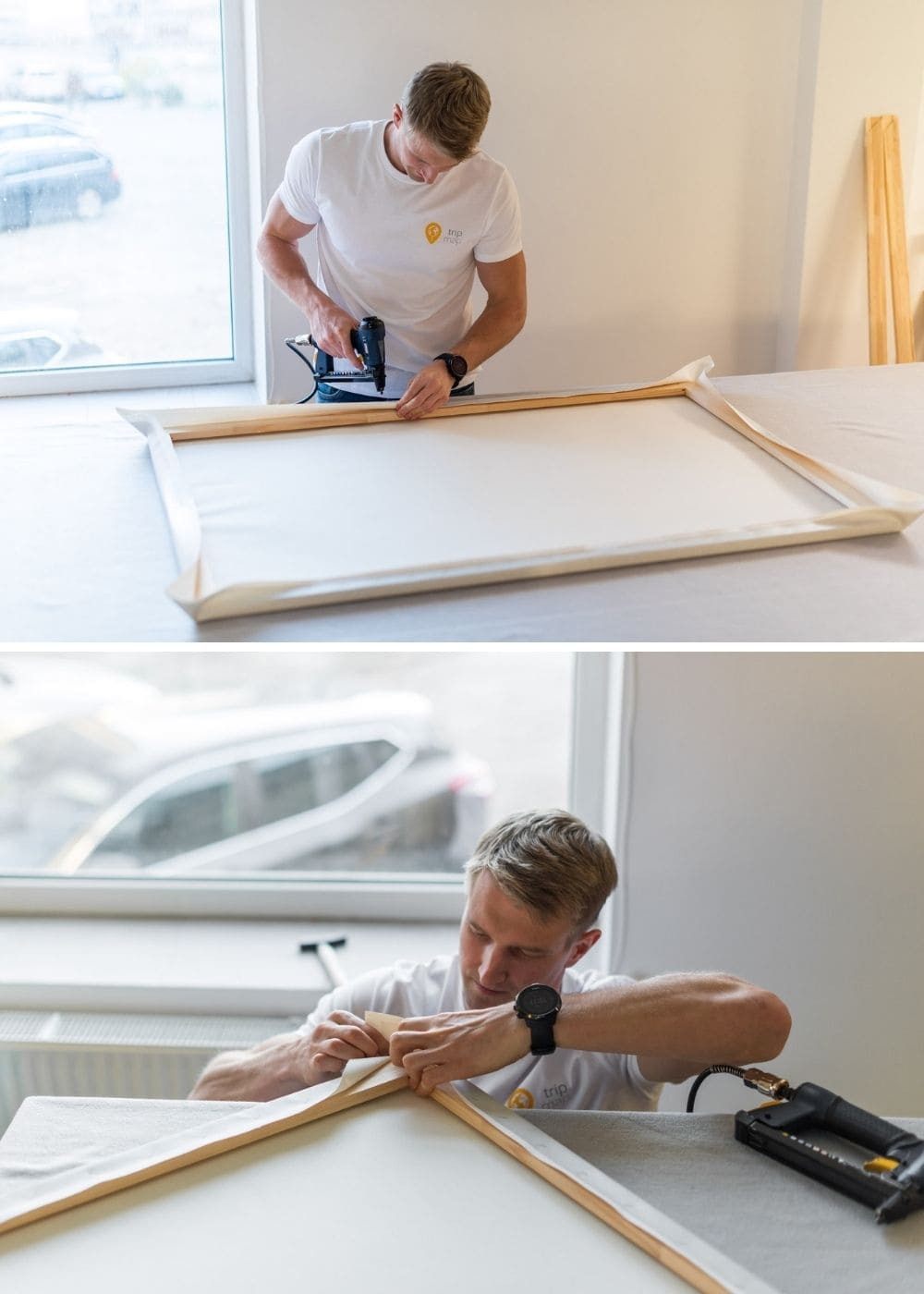 stretching canvas