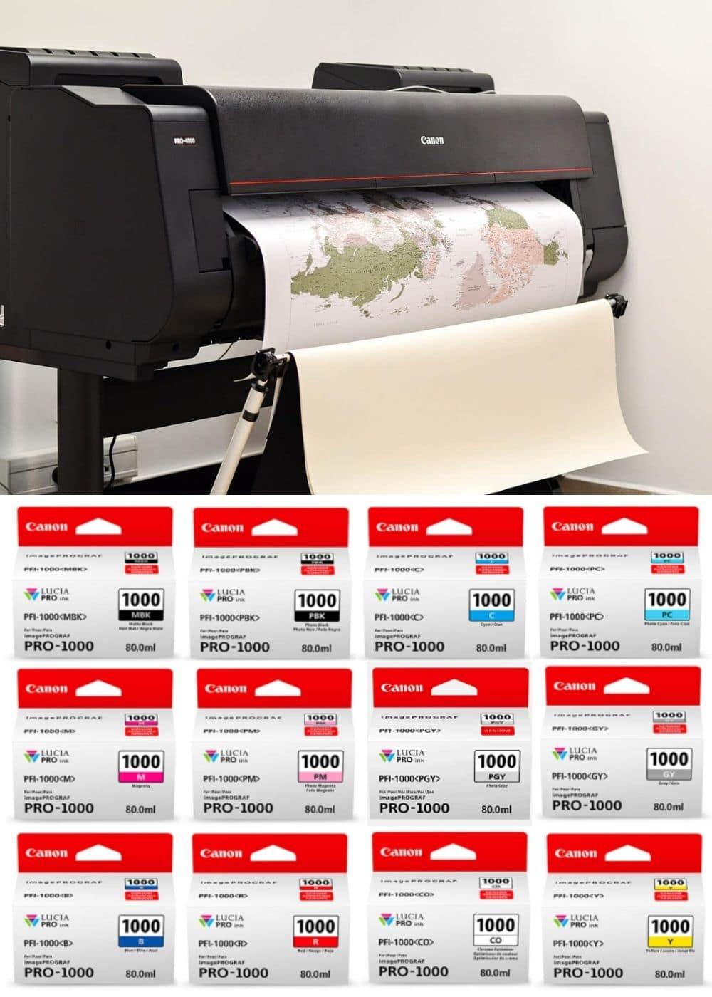 canon printer colors