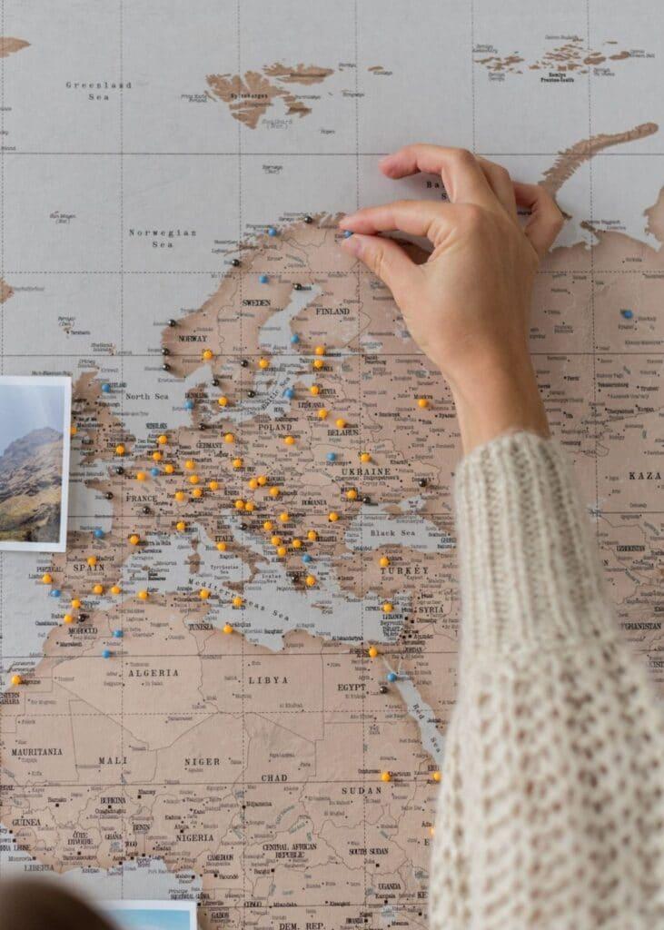 trip map pins