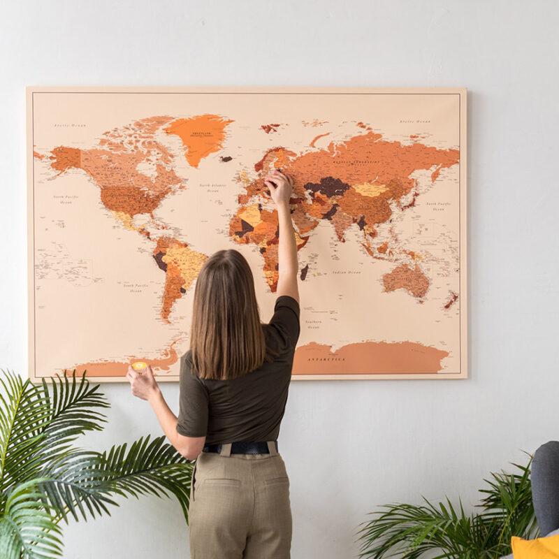 tripmapworld-brown-push-pin-world-map