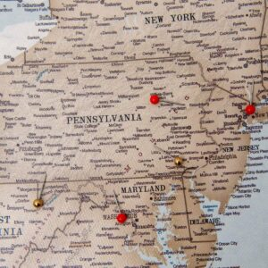 vintage uvintage usa push pin mapsa push pin map