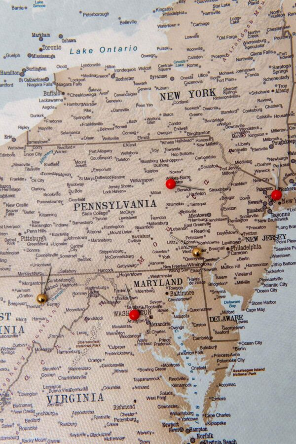 vintage uvintage usa push pin mapsa push pin map